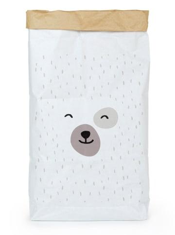 """Tanuki Opbergzak """"Smiling Bear"""" wit - (B)60 x (H)90 x (D)13 cm"""