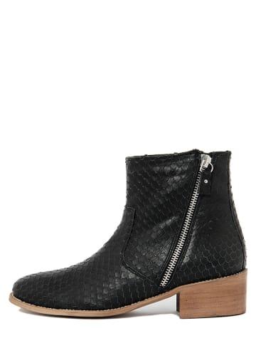 BlueTag Leren boots zwart