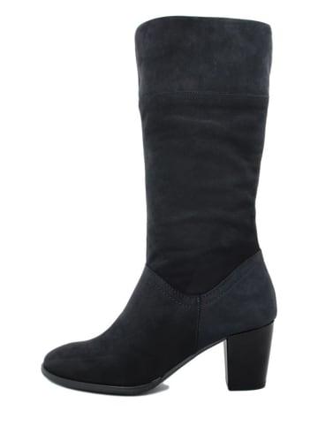 BlueTag Leren laarzen donkerblauw