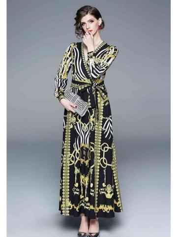 Ferraga Sukienka w kolorze czarnym ze wzorem