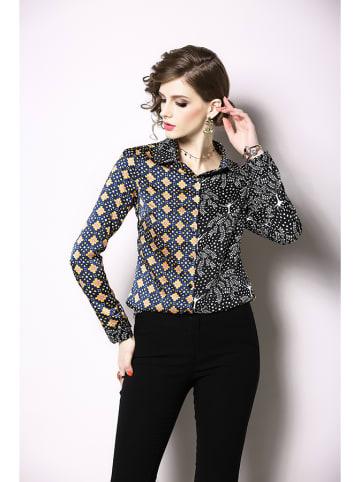 Ferraga Koszula w kolorze czarnym ze wzorem