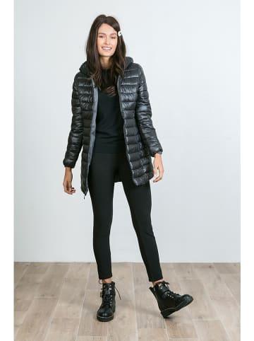Le Comptoir du Manteau Dwustronna kurtka przejściowa w kolorze szaro-czarnym