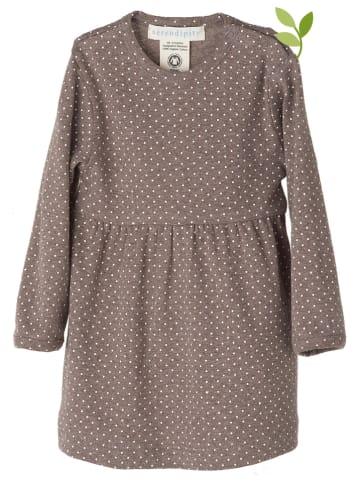Serendipity Kleid in Braun/ Weiß