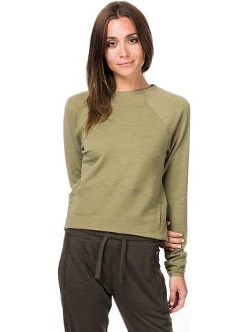 Super.natural Koszulka sportowa w kolorze oliwkowym