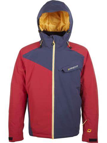 "D'FRENT Ski-/ Snowboardjacke ""Cervinia"" in Rot/ Dunkelblau"