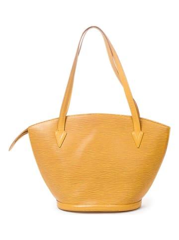 """Louis Vuitton Skórzana torebka """"St-Jacques Shopping GM"""" w kolorze żółtym - 26 x 30 x 17 cm"""