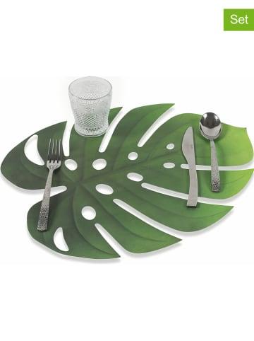"""Colorkitchen Podkładki stołowe (6 szt.) """"Jungle"""" w kolorze zielonym - 47 x 36 cm"""