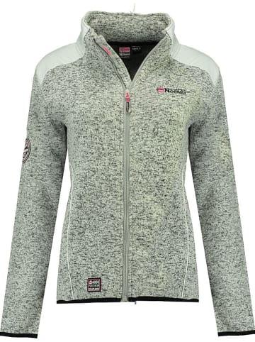 """Geographical Norway Fleece vest """"Tourbillone"""" grijs/wit"""