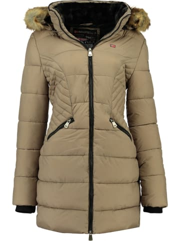 """Geographical Norway Wintermantel """"Abeille"""" in Taupe"""