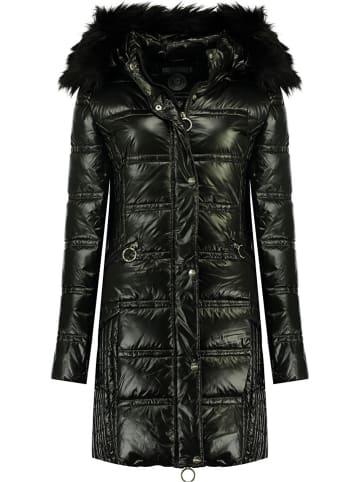 """Geographical Norway Płaszcz zimowy """"Bilight"""" w kolorze czarnym"""
