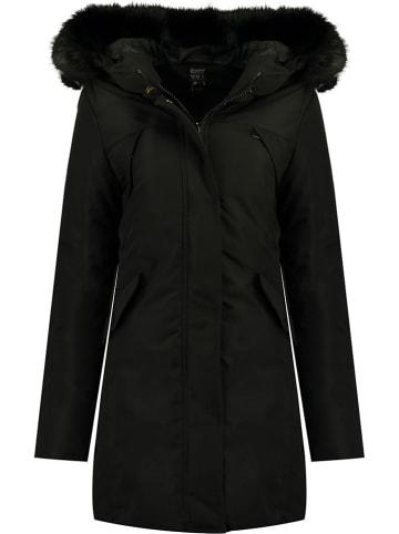 Geographical Norway Płaszcz zimowy w kolorze czarnym
