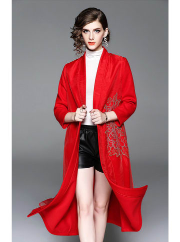 Zeraco Płaszcz w kolorze czerwonym