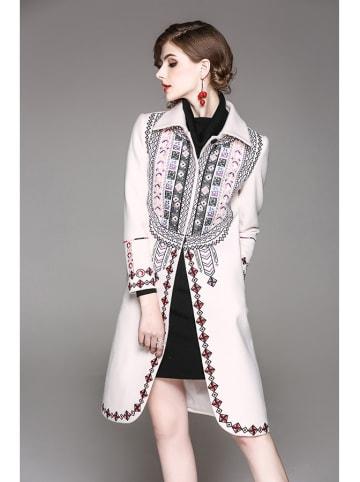 Zeraco Płaszcz w kolorze białym ze wzorem