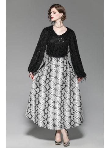 Zeraco 2-częściowy zestaw w kolorze biało-czarnym - sweter, spódnica