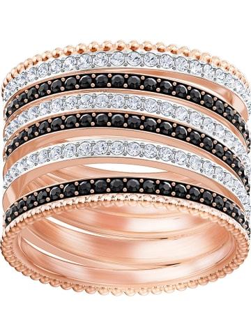 """Swarovski Rosévergold. Ring """"Lollypop"""" mit Swarovski Kristallen"""