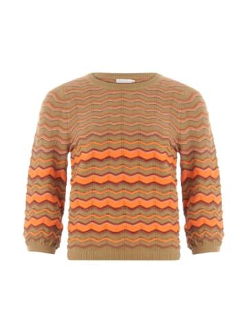 Coster Copenhagen Sweter w kolorze beżowo-pomarańczowym