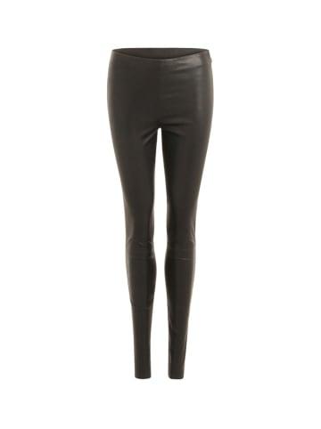 Coster Copenhagen Skórzane spodnie w kolorze czarnym