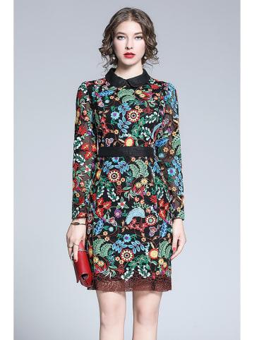 Tina Sukienka w kolorze czarnym ze wzorem