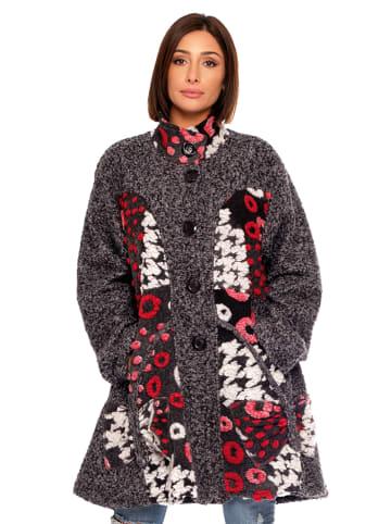 Plus Size Fashion Płaszcz wełniany w kolorze szarym