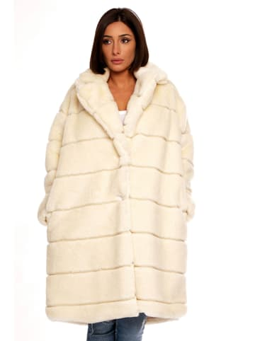 Plus Size Fashion Płaszcz zimowy w kolorze białym