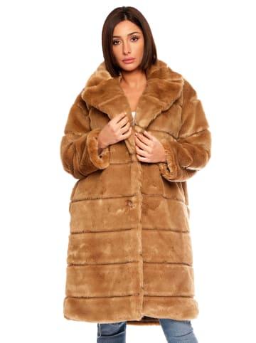 """Plus Size Fashion Wintermantel """"Val"""" lichtbruin"""