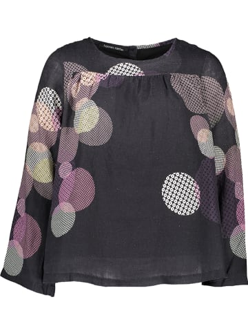 Hannes roether Blouse donkerblauw/paars