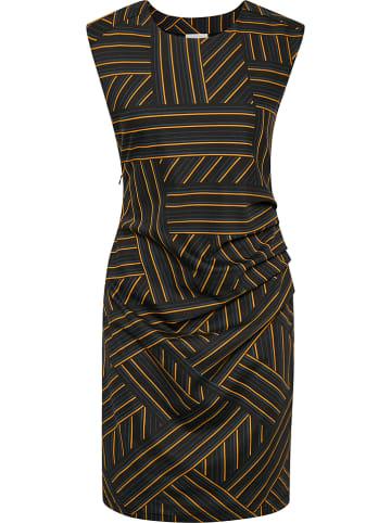 """Kaffe Sukienka """"Zenny"""" w kolorze granatowo-czarno-pomarańczowym"""