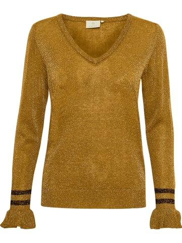 """Kaffe Sweter """"Vigga"""" w kolorze musztardowym"""