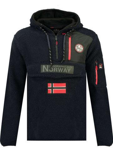 "Geographical Norway Fleecepullover ""Terifique"" in Dunkelblau"