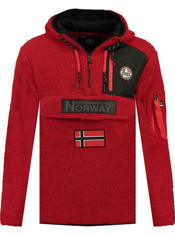 "Geographical Norway Fleece trui ""Terifique"" rood"