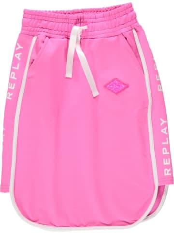 Replay & Sons Spódnica w kolorze różowym