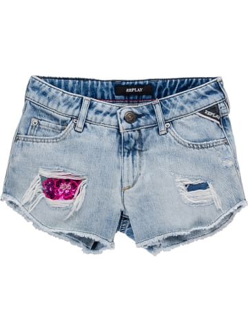 Replay & Sons Jeansshorts in Hellblau