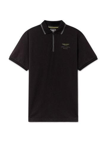 Hackett London Koszulka polo w kolorze czarnym