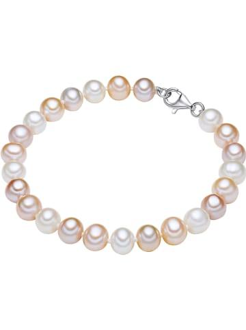 The Pacific Pearl Company Perłowa bransoletka w kolorze biało-jasnoróżowym