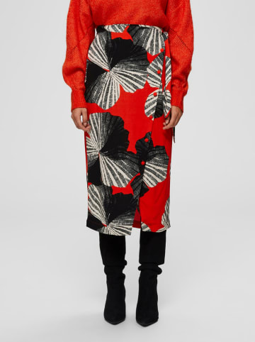 """SELECTED FEMME Spódnica """"Slfkairi"""" w kolorze czerwonym ze wzorem"""
