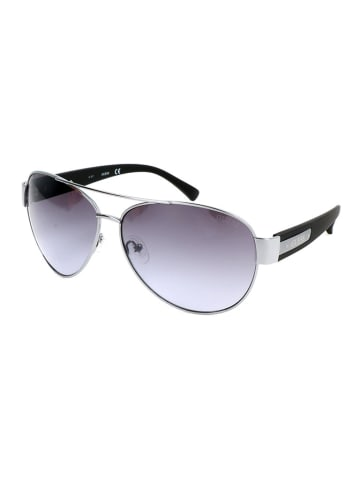 Guess Męskie okulary przeciwsłoneczne w kolorze srebrno-czarno-szarym