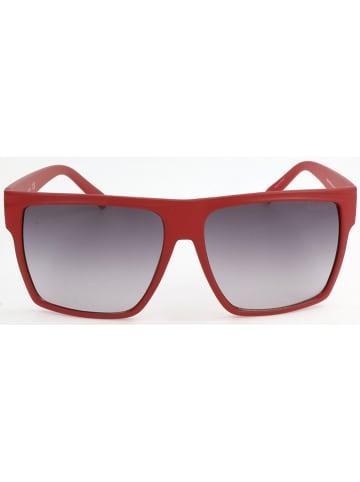 Guess Męskie okulary przeciwsłoneczne w kolorze szaro-czerwonym