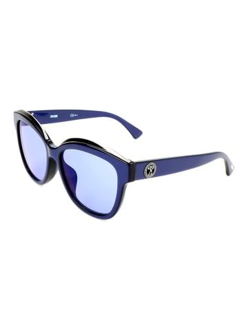 Moschino Dameszonnebril donkerblauw/blauw