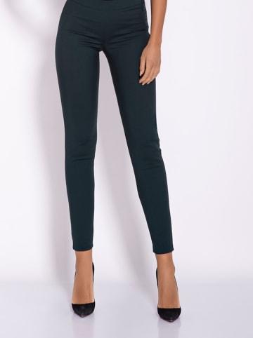 Dursi Spodnie w kolorze ciemnozielonym