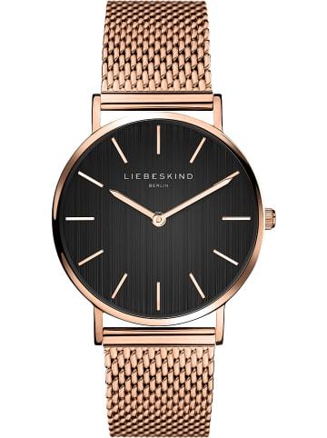 Liebeskind Zegarek kwarcowy w kolorze czarno-różowozłotym