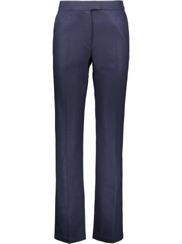 Cacharel Wollen broek donkerblauw
