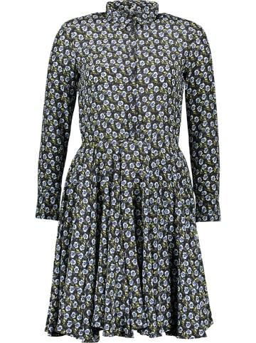 Cacharel Jedwabna sukienka w kolorze granatowym
