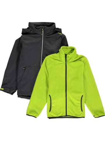 CMP 3-in-1 functionele jas zwart/groen