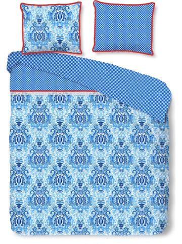 "HAPPINESS Perkal beddengoedset ""Yogi"" blauw"