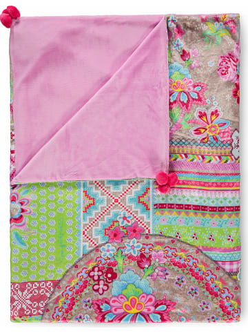 "HAPPINESS Plaid ""Zalipie"" roze/groen"