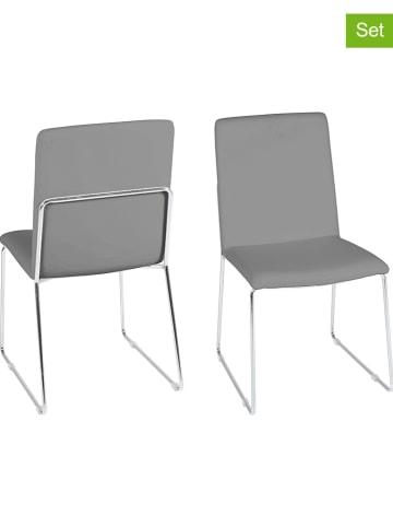 """AC Design Krzesła (4 szt.) """"Kitos"""" w kolorze szarym - 48,5 x 88 x 55 cm"""
