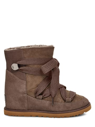 """UGG Leder-Boots """"Classic Femme Lace-Up"""" in Braun"""