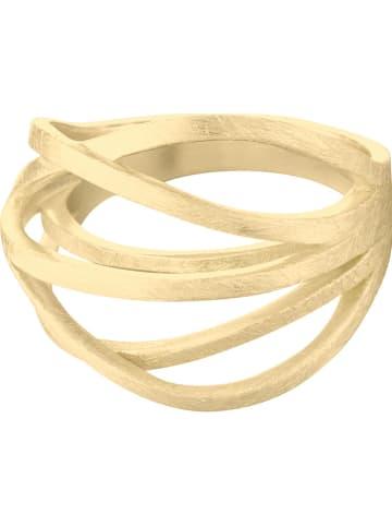 Steel_Art Pozłacany pierścionek