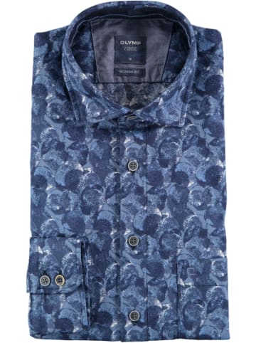 """OLYMP Blouse """"Casual"""" - modern fit - donkerblauw"""