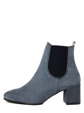 EYE Leder-Chelsea-Boots in Blau